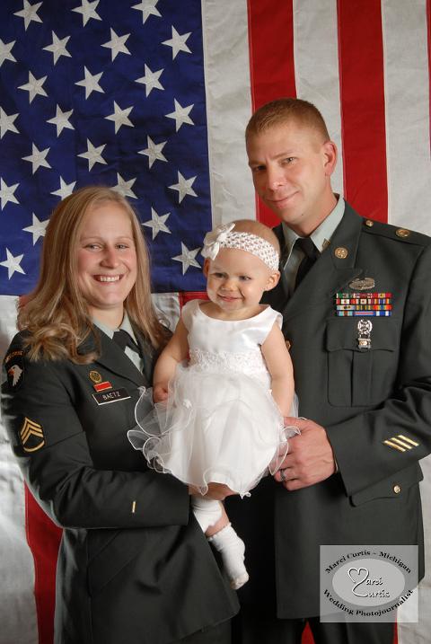 Detroit Michigan family military portrait