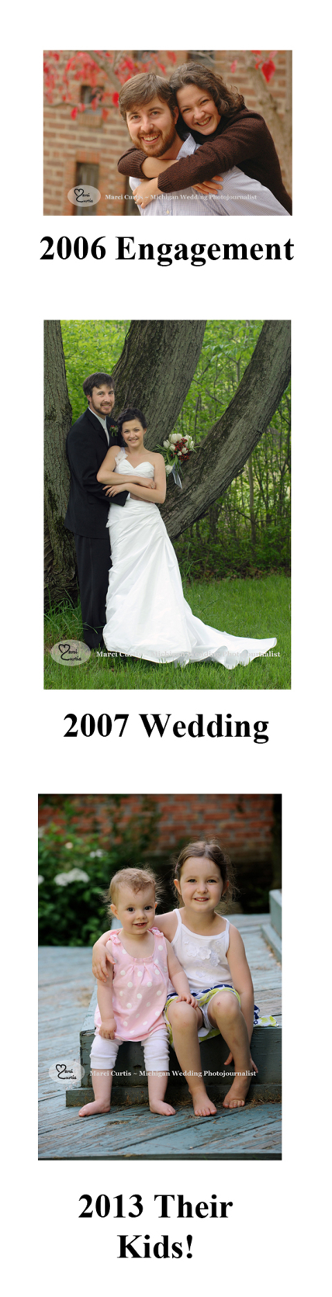 Michigan wedding photographer showcases engagement, wedding and family photos