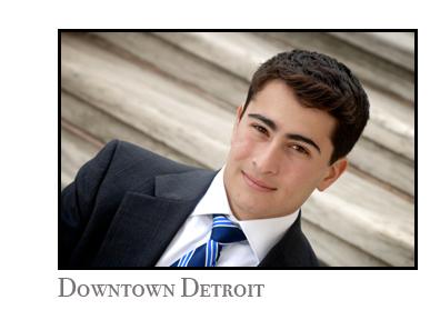 Detroit senior photographer takes photos in downtown Detroit, Michigan on location.