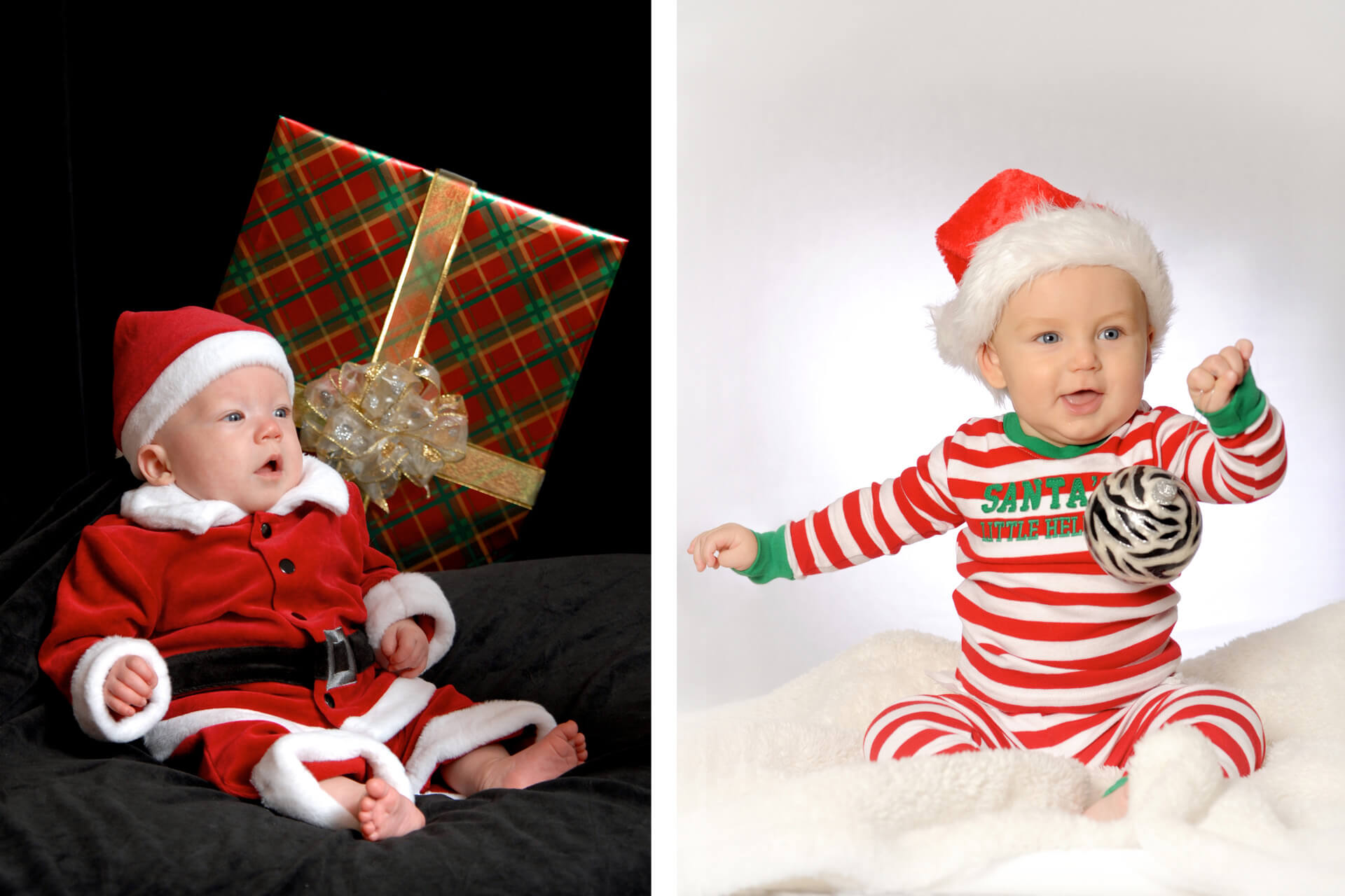 Best Detroit newborn photographer's fun and candid baby photos during the holidays make great holiday gifts for parents and grandparents metro Detroit, Michigan.
