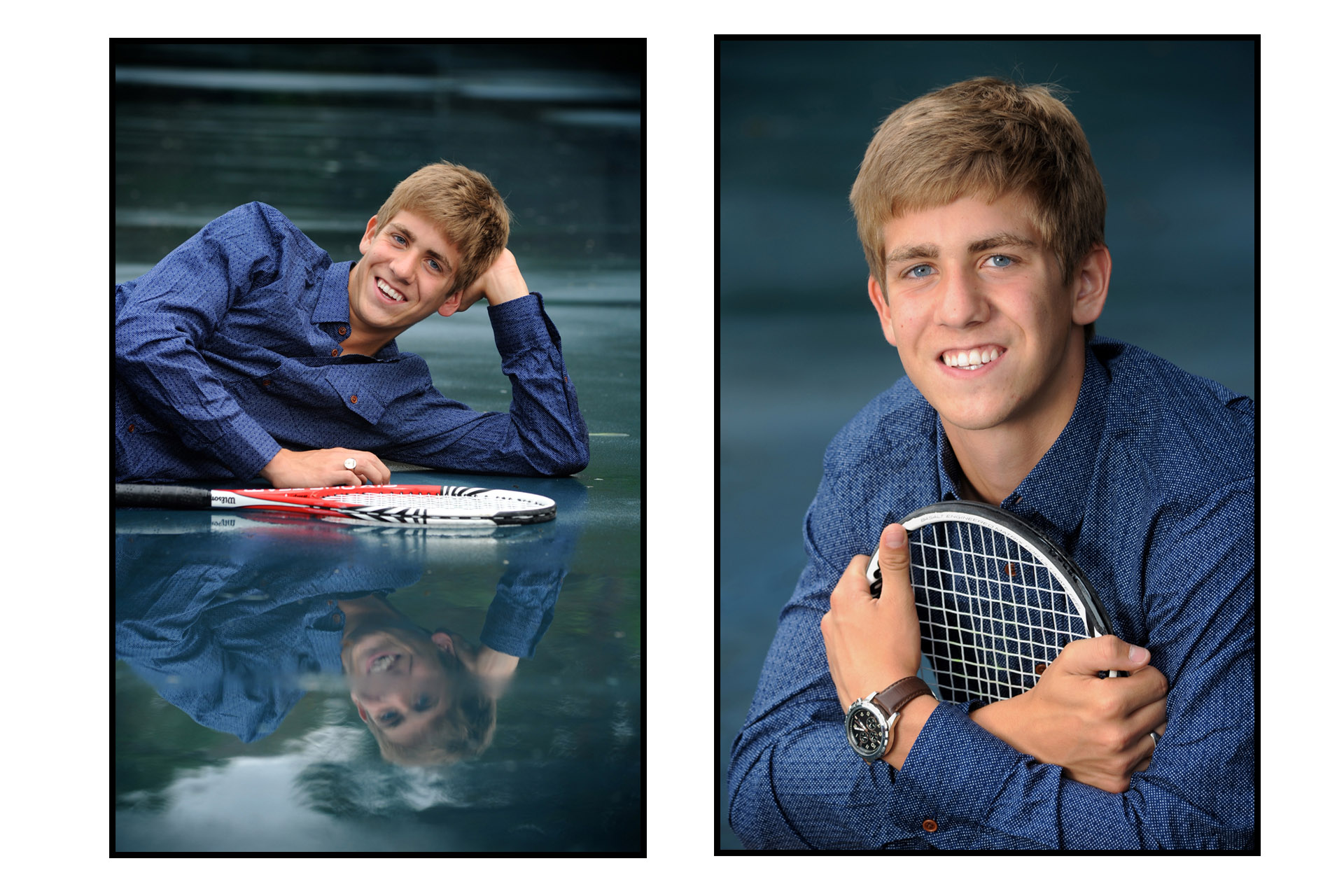 cranbrook , Michigan senior photographer's photo taken of a tennis team player's senior photos at Cranbrook School in Bloomfield, Michigan.