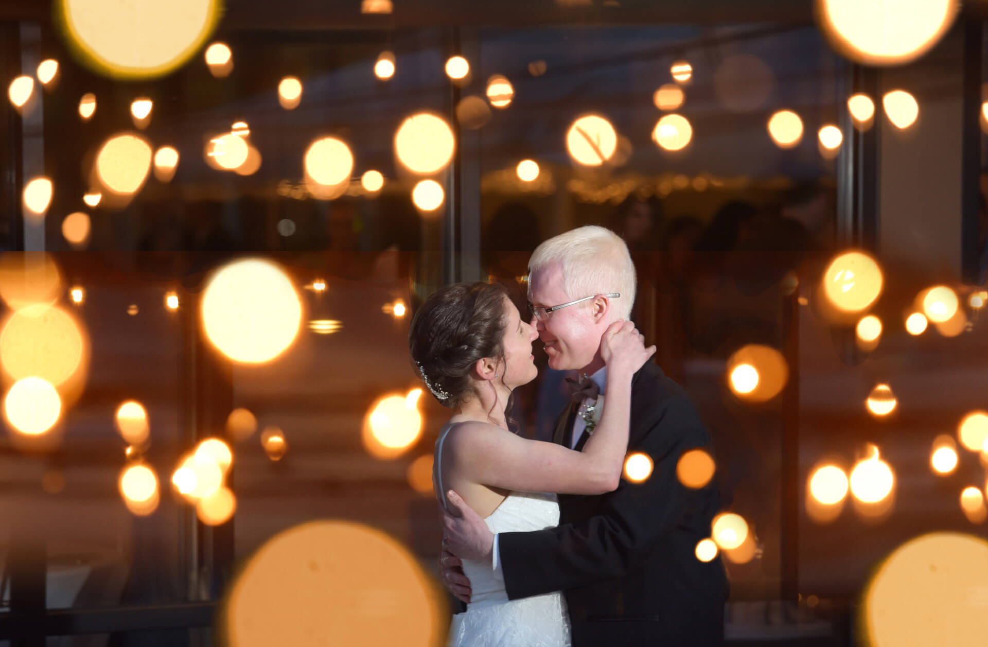 Epic wedding day portraits are part of my every wedding photo coverage like this cool portrait with fairy lights at the Stonebridge Golf Club in Ann Arbor, Michigan.