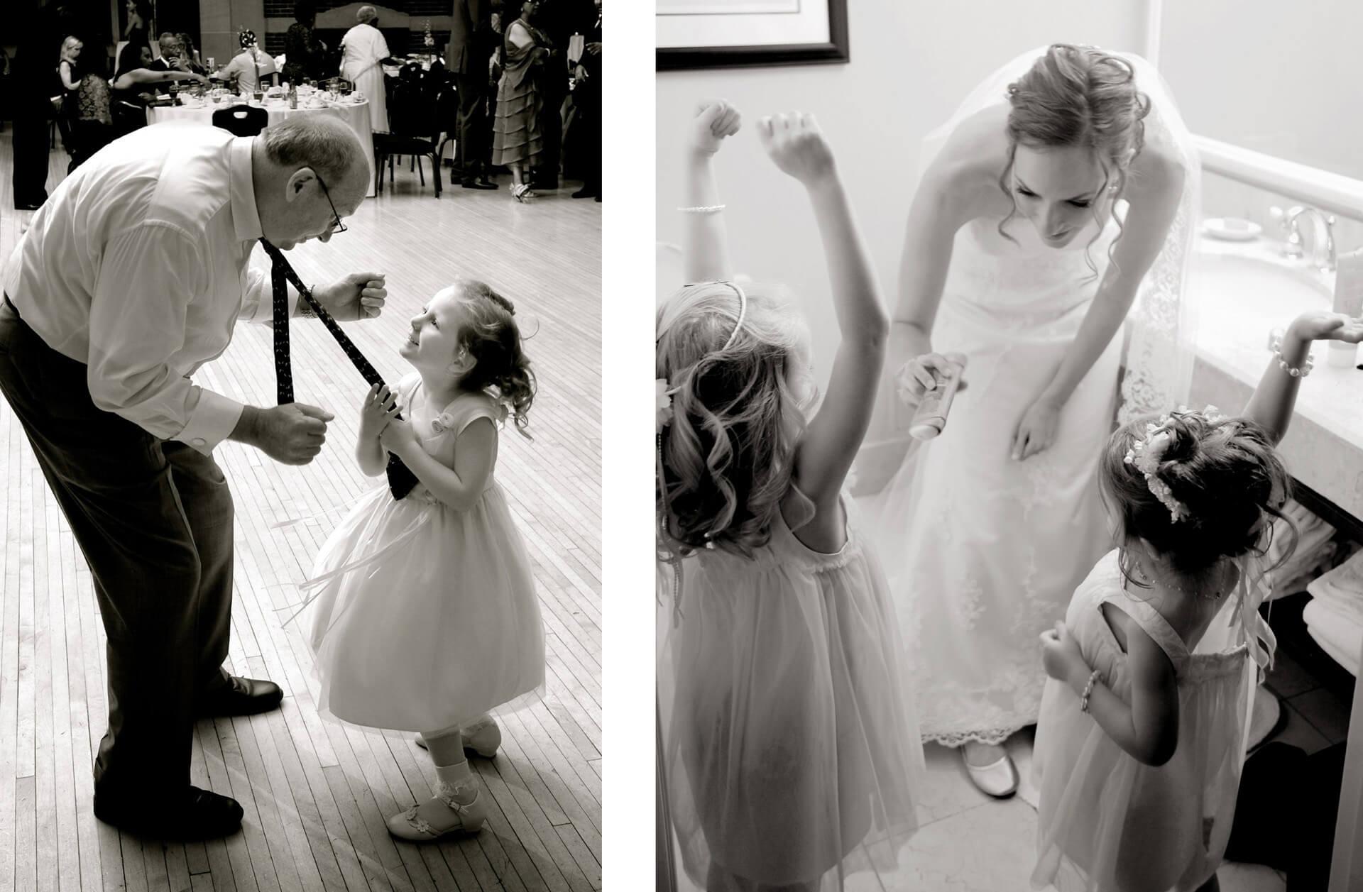 Michigan wedding photographer photographs candids portraits during Detroit weddings.