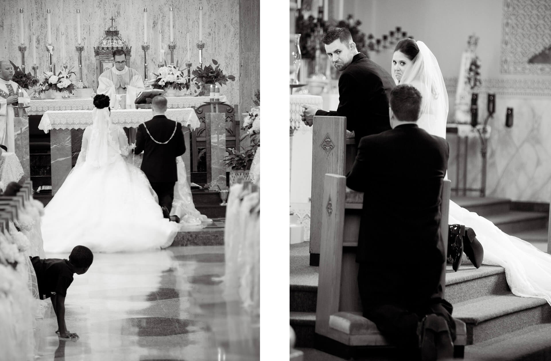 Documentary wedding photo of moments happen during wedding services in the metro Detroit, Michigan area.