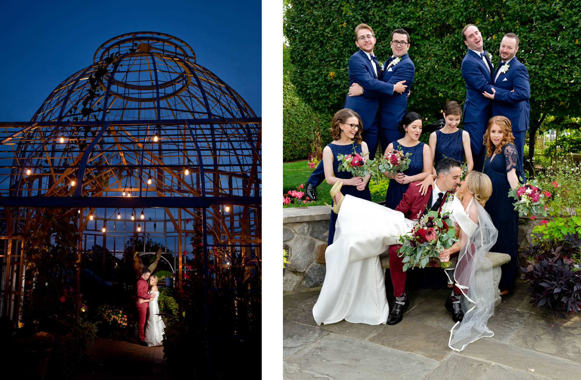 A wedding at the botanical gardens Conservatory in Taylor, Michigan.