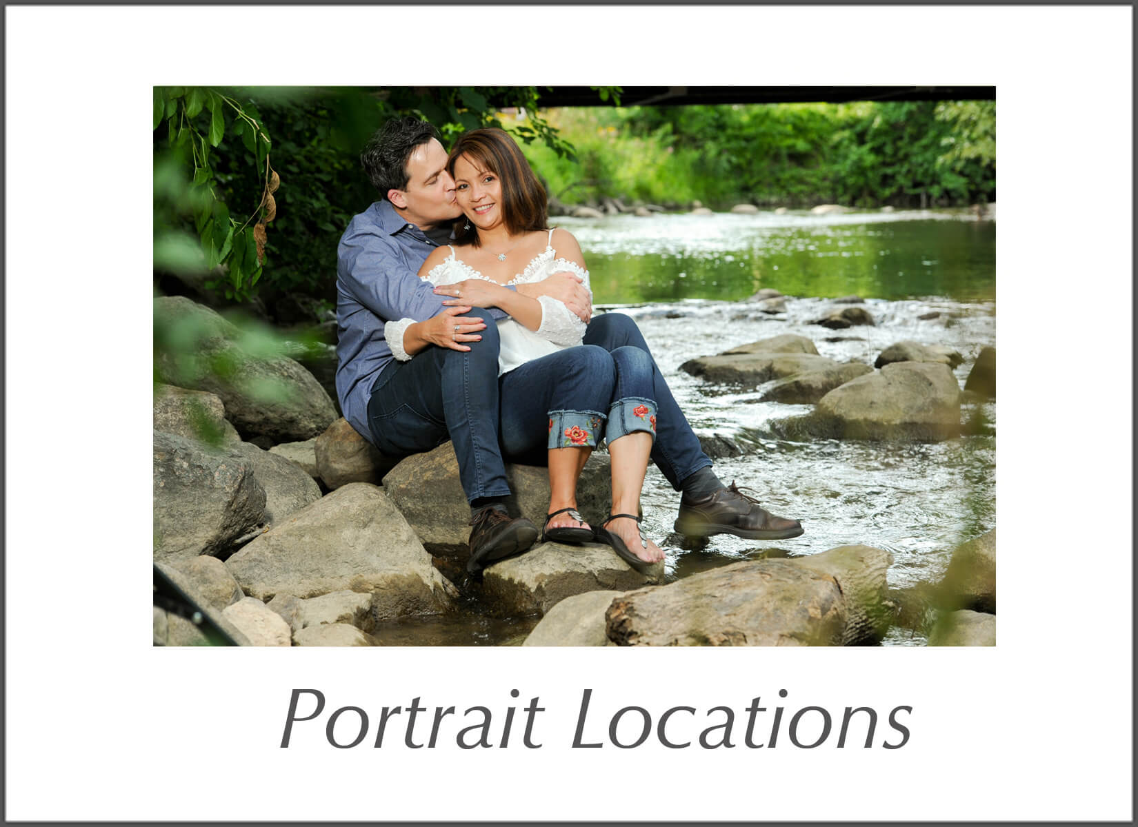 A menu to all the locations Marci Curtis Wedding Photojournalist uses for her on location portrait photography sessions