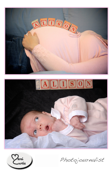 Michigan photographer takes baby photos on location to make everybody more comfortable.