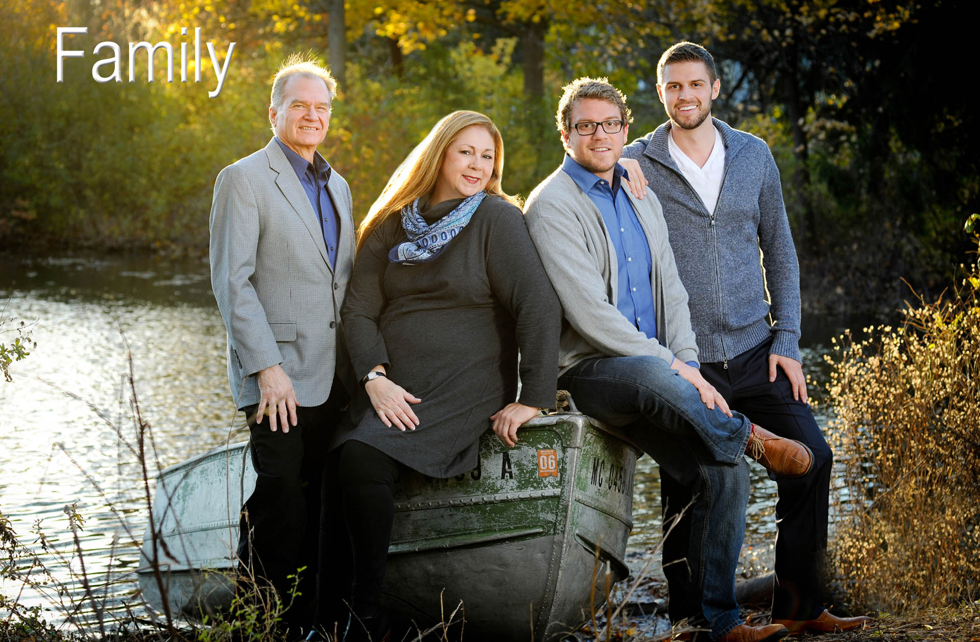 A metro Detroit family features a fun family photo with three generations created by affordable, creative family photographer who takes creative family photos in the Metro Detroit area.