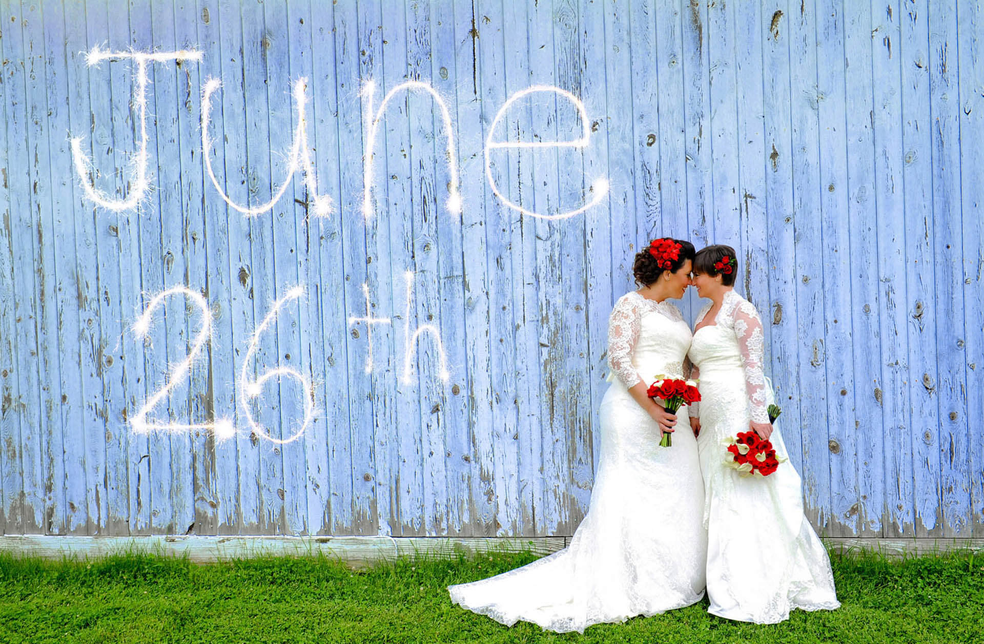 A Metro Detroit, Michigan lesbian couple just happened to get married on June 26th, a historic day legalizing gay marriage taken by photographer voted Best Michigan Wedding Photographer, Marci Curtis.