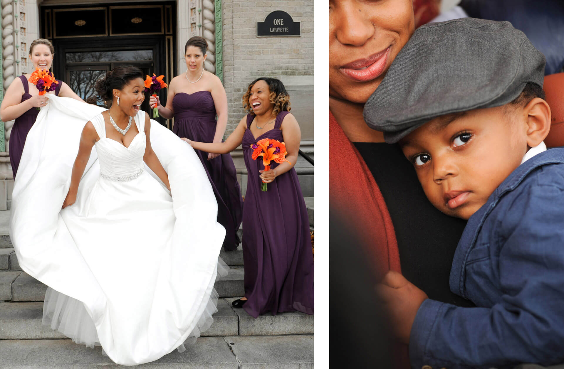 A Pontiac, Michigan wedding generated many candid and spontaneous moments and portraits.