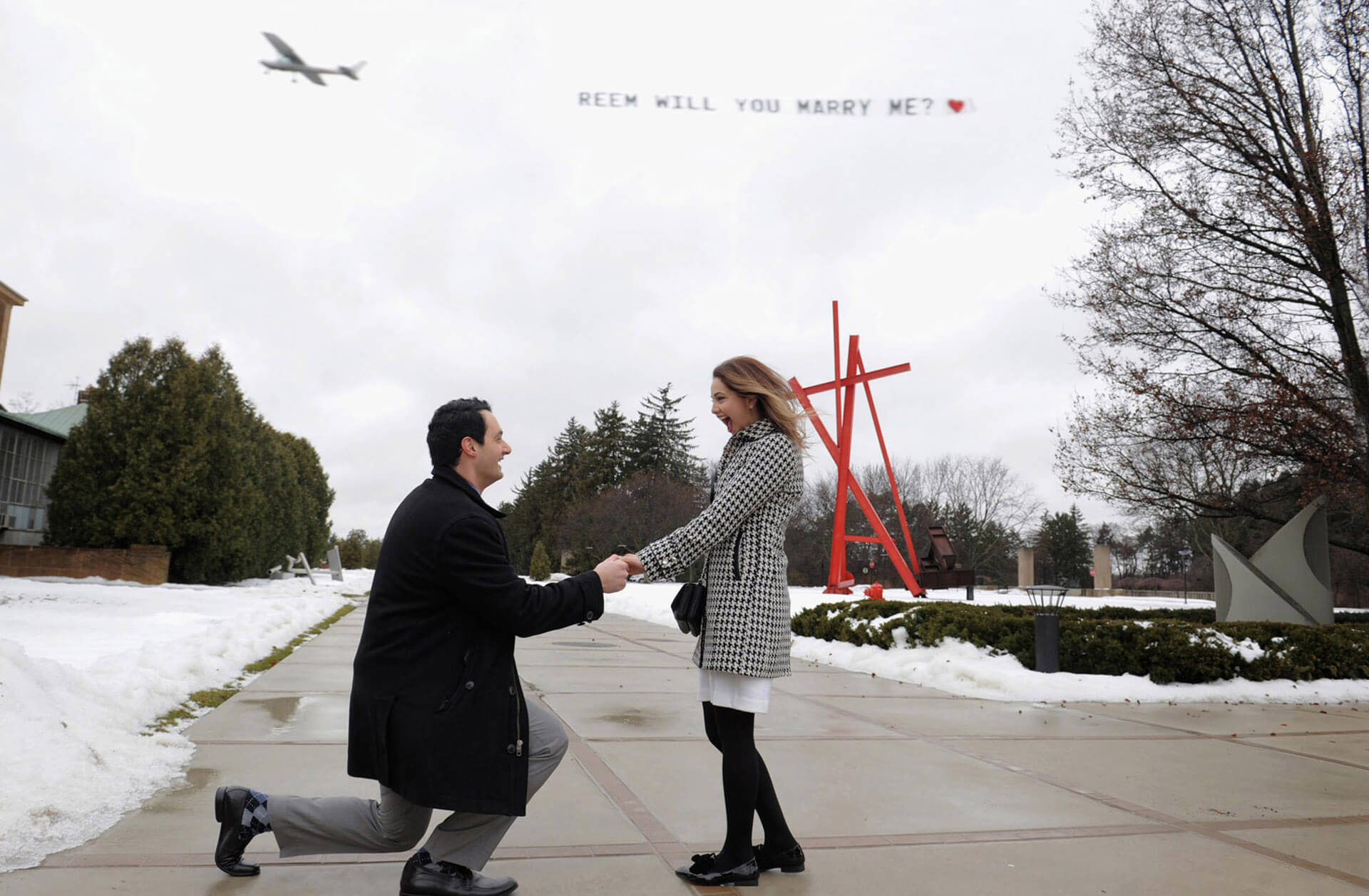 Proposal photography has become very popular in the Metro Detroit area. Just a hint to the fellows doing the asking... don't do it on a Saturday. All the best wedding photographers are out shooting weddings!