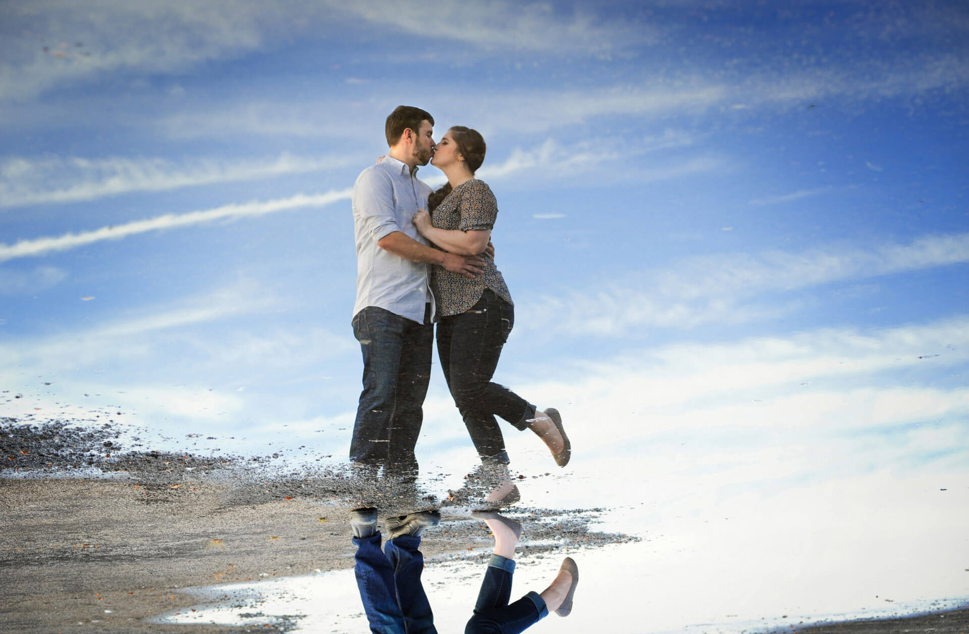 A favorite metro Detroit engagement photo session at Metro Park in Michigan featured a Michigan couple who will be getting married at that park this year.