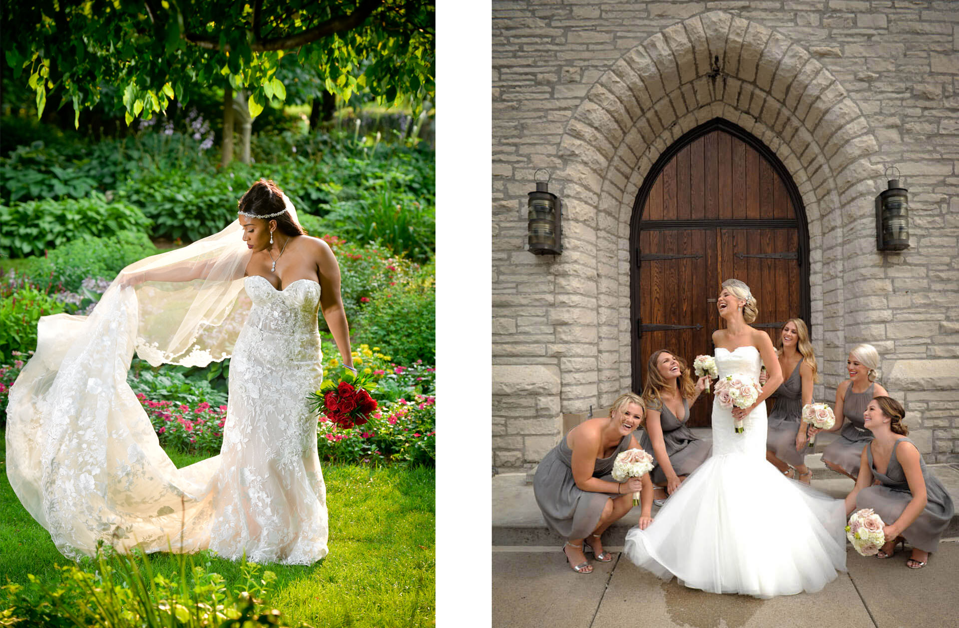 Best and favorite Detroit wedding photographer Marci Curtis captures great wedding moments and creates great lighting for her Detroit, Michigan wedding couples.