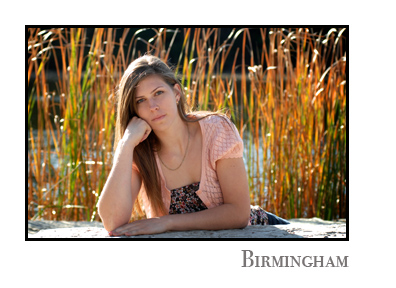 Birmingham, Michigan senior photo locations offer parks, lakes and a touch of an urban feel.
