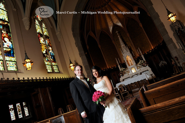 Grosse Pointe Academy Chapel Wedding photography