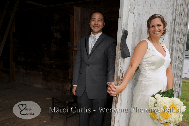 "Michigan wedding couple's ""first look""."