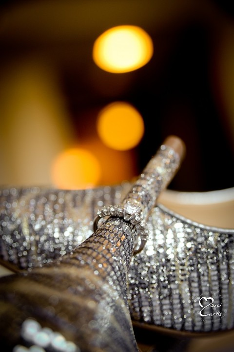 Detroit Nigerian Wedding Photographer photographs the bride's shoe.