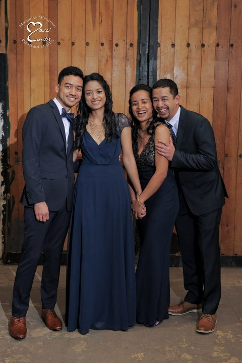 Jam Handy Wedding location with siblings.
