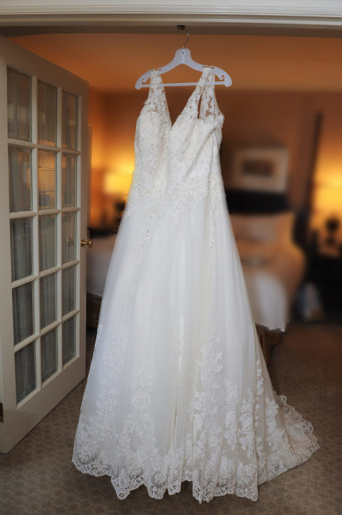 Townsend hotel bride gets ready in Birmingham, Michigan. Photo by Marci Curtis