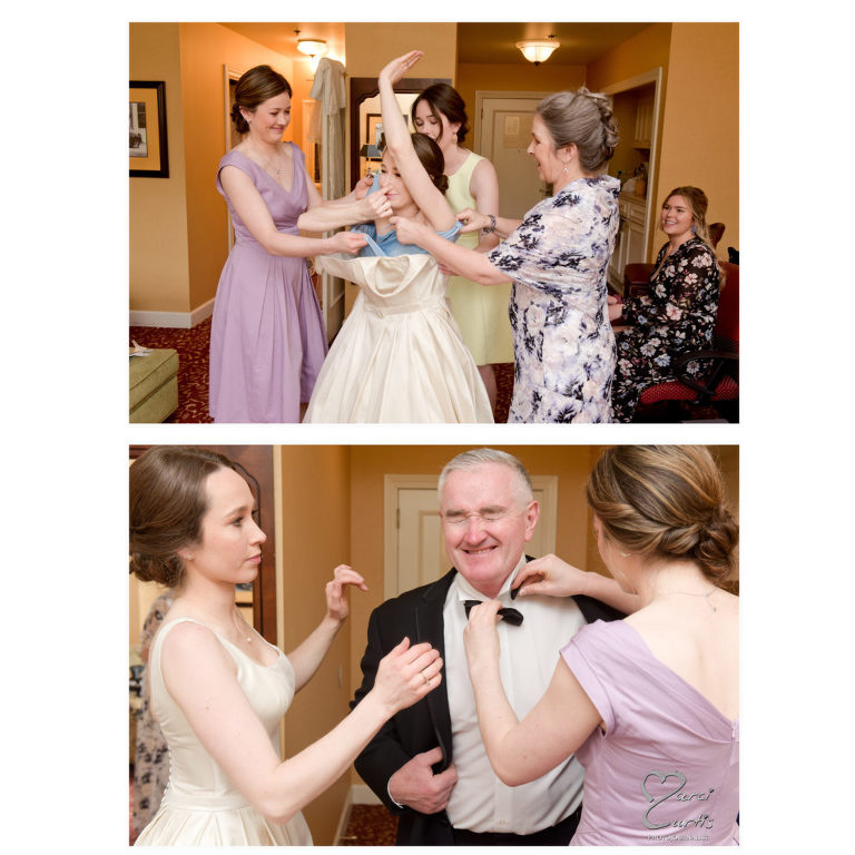 Wedding preparations at the Dearborn Inn in Dearborn, Michigan.