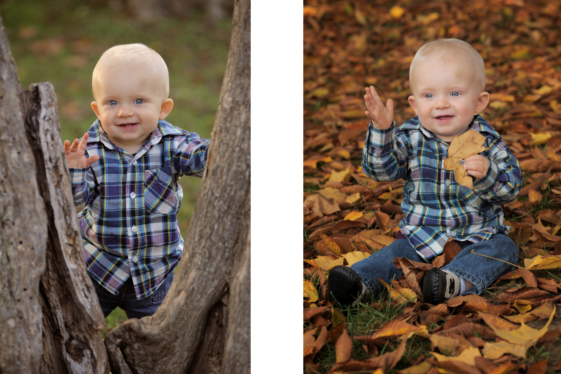 Getting a good variety of photos of your kids is one of the things that makes me a best Detroit children photographer in the Detroit, Michigan area with many photos of this cute little boy in the fall.