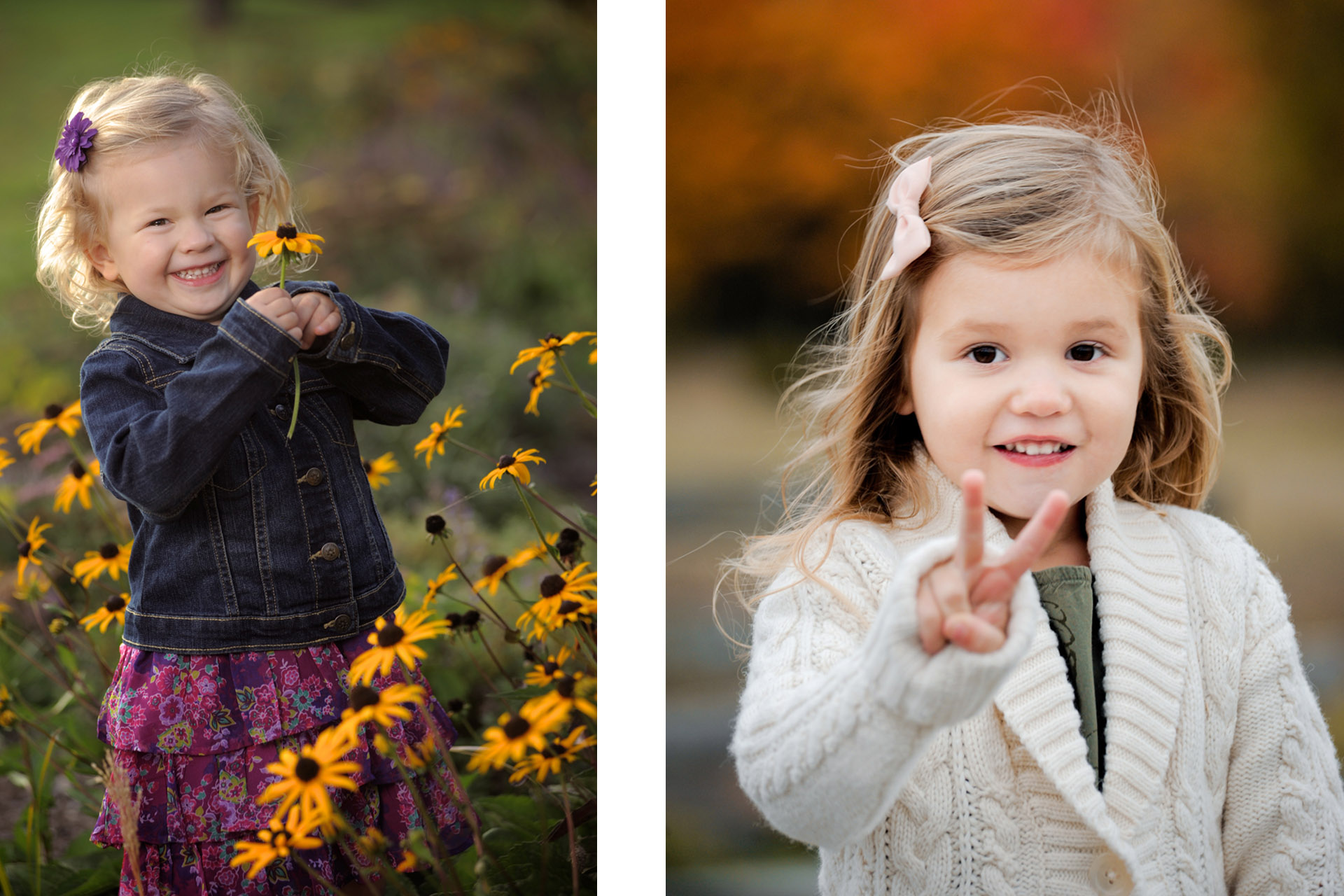Best Detroit children photographer captures kids being sweet and silly like these two little girls in metro Detroit, Michigan children photography session.