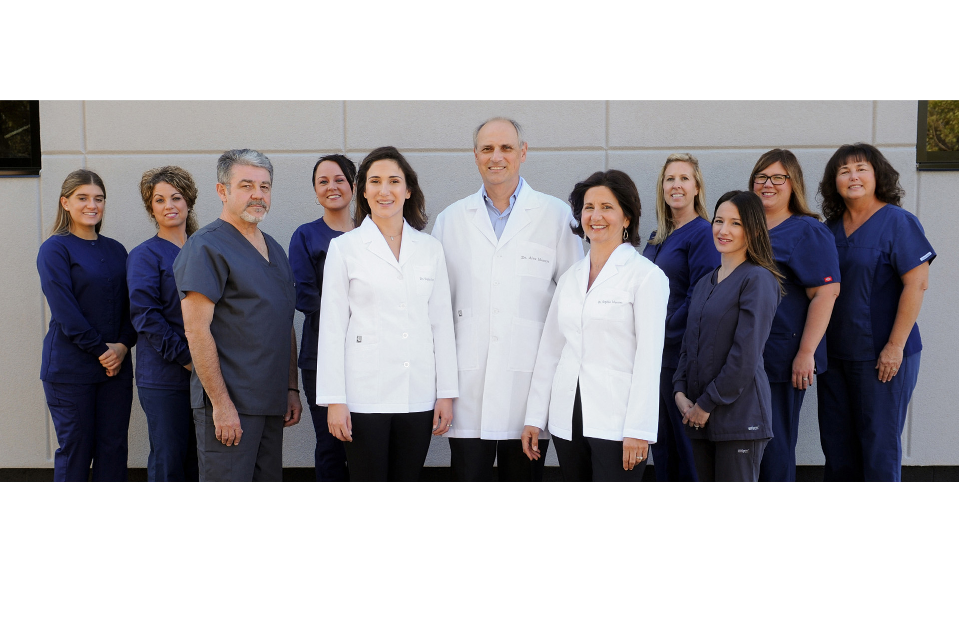 Best Detroit website photographer's style of photographing staff photos for website banners like this dental practice in the metro Detroit, Michigan.