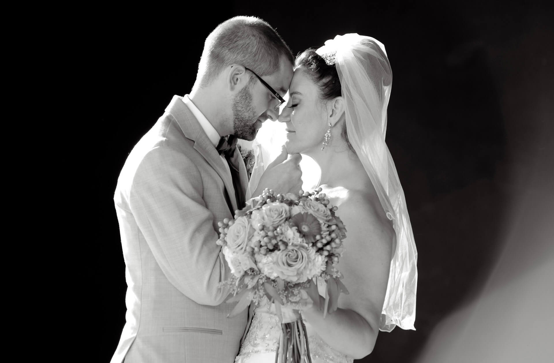 Taking advantage of great light and a romantic Michigan wedding couple, this artwork was created in Sterling Heights, Michigan while both their families sat and watched!