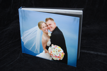 flushmount wedding album is a large 14x11 inch album with a huge photo on the front