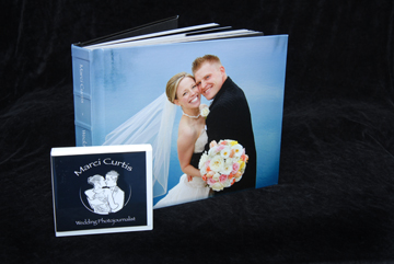I've shown the size next to a DVD case to emphasize the largeness of the wedding album.