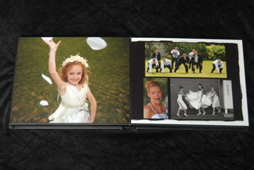 each layout of the flushmount wedding album is individually designed
