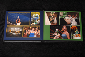 layout for the flushmount wedding album are designed individually for each client