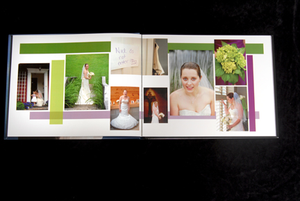 all layouts for the wedding albums are individually designed.