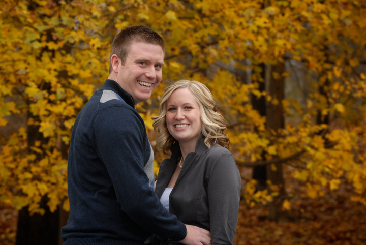 engagement photos shot on location in Michigan