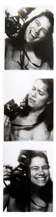 Marci Curtis in a different photobooth strip of photos