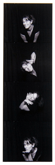 Marci Curtis in a photobooth photo