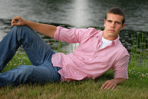Michigan Clarkston senior photography shot in natural settings like rain storms.
