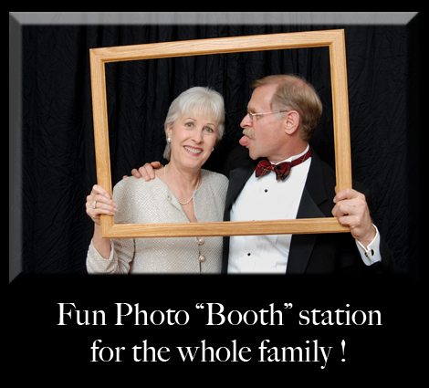 Michigan photo booth station set up at your Detroit party, wedding or event.