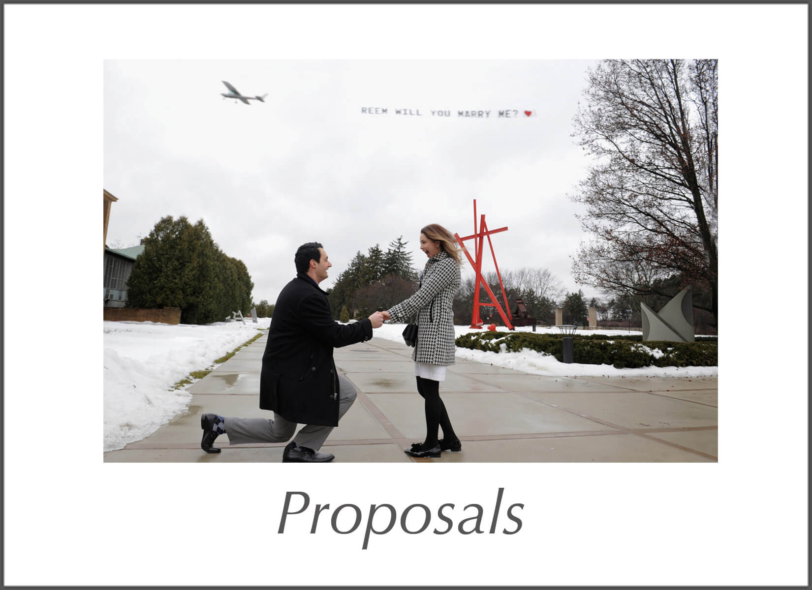 Michigan photojournalist photographs proposals as they're happening.