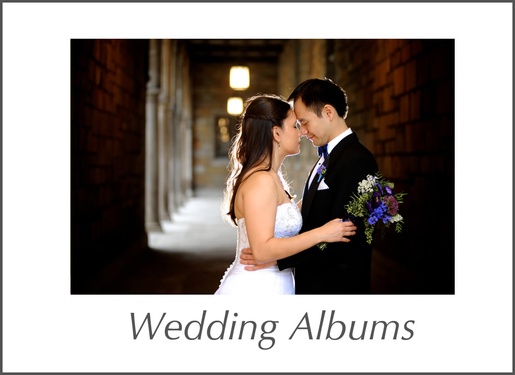 Michigan wedding Photographer offers several different large wedding albums including a 14 x 11 inch flush mount photo album.