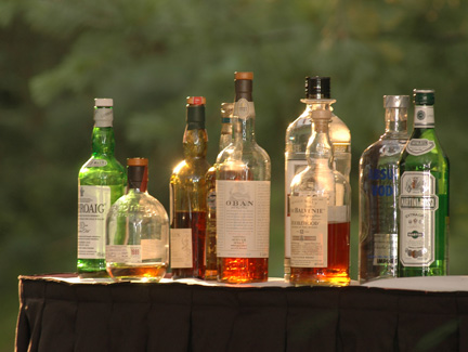 This Scottish themed, backyard wedding in Ann Arbor featured a great selection of fine Scottish whiskey's.