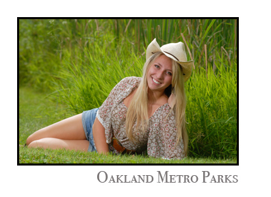metro parks provide excellent senior photo backgrounds for my more outdoors oriented seniors from the Oakland County Michigan area.