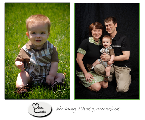 Michigan photographer shoots baby photos on location with her own studio set up in your home