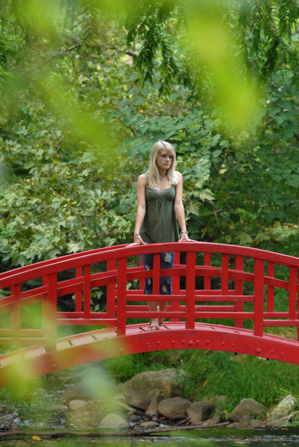 Most of Rachel's senior photos were taken near a park in Farmington Hills, MI.