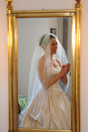 Meadowbrook wedding photography includes photos of the bride during final wedding preparations at Meadow Brook Hall in Michigan