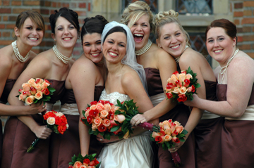 Rochester Wedding photographer in Michigan showcases natural poses with bridesmaid's during Meadow Brook wedding