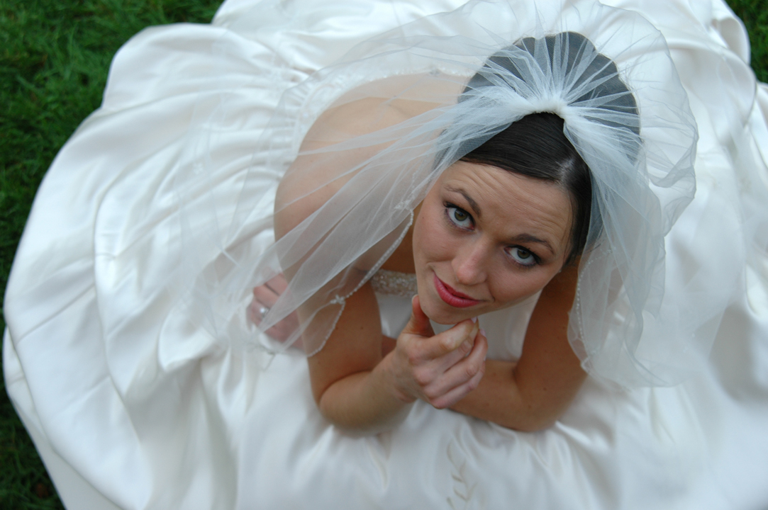 Wedding photographer in MI favorite shot of the year was this one of Rachel shot overhead at Meadowbrook