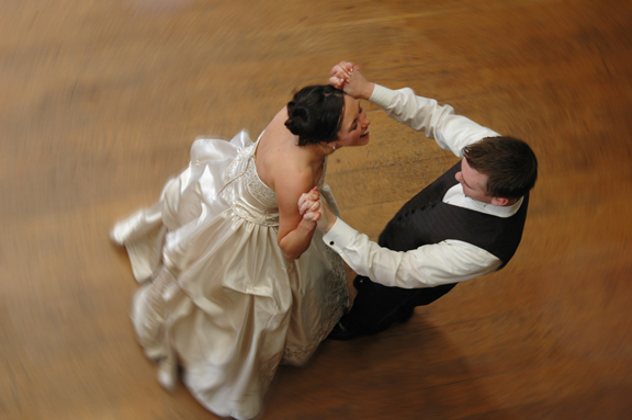 Another great wedding photograph of the bride and groom dancing at their wedding at Meadowbrook Hall in Rochester Hills MI