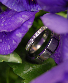Beacon Hill Michigan couple's wedding rings