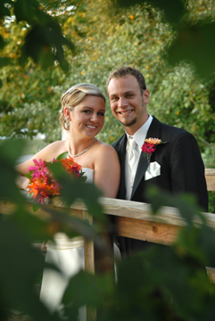 The bride and groom at their Rochester Michigan reception